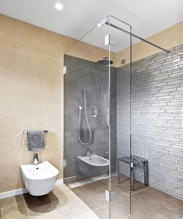 duschwand freistehend glas festteil ber eck bwx. Black Bedroom Furniture Sets. Home Design Ideas