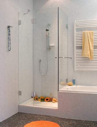 eck duschkabine verk rzte festwand a2k. Black Bedroom Furniture Sets. Home Design Ideas