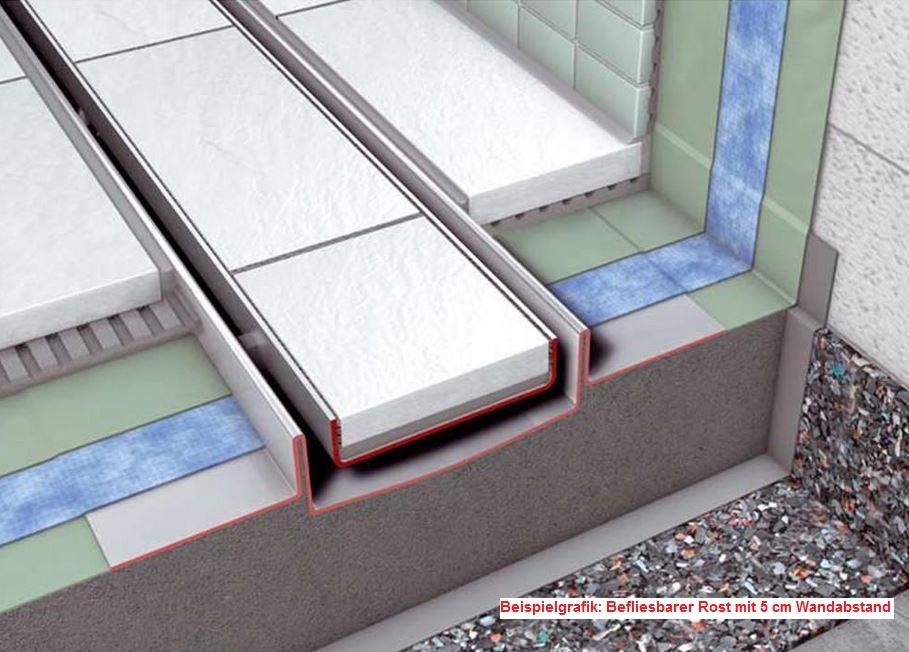 duschelement mit rinne 100x100x6 5 cm. Black Bedroom Furniture Sets. Home Design Ideas