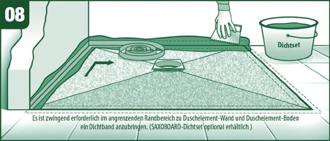 Dusche Gefliest Ablauf : Die angrenzenden Wandbereiche von Duschwand zu Duschboden m?ssen mit