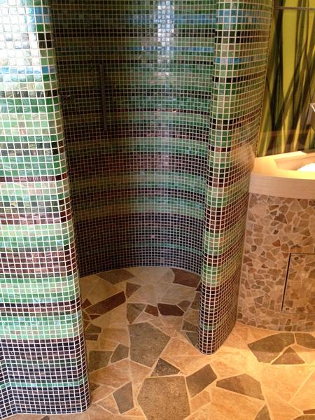Befliesbare komplettduschen - Mosaikfliesen rund ...